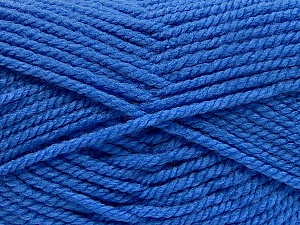 Fiber Content 100% Acrylic, Brand ICE, Blue, Yarn Thickness 5 Bulky  Chunky, Craft, Rug, fnt2-53190