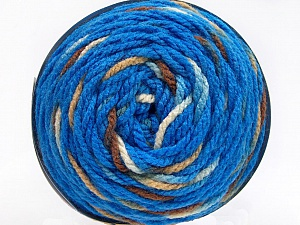 Fiber Content 80% Acrylic, 20% Polyamide, Brand ICE, Cream, Brown Shades, Blue, Yarn Thickness 4 Medium  Worsted, Afghan, Aran, fnt2-53211