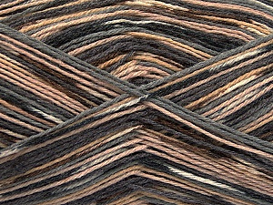 Fiber Content 50% Superwash Merino Wool, 25% Bamboo, 25% Polyamide, Brand ICE, Grey, Camel, Brown, Yarn Thickness 1 SuperFine  Sock, Fingering, Baby, fnt2-53334