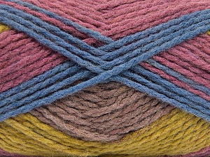 Fiber Content 70% Acrylic, 30% Wool, Orchid, Olive Green, Lilac, Brand ICE, Blue, Yarn Thickness 4 Medium  Worsted, Afghan, Aran, fnt2-53556