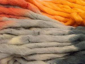 Fiber Content 100% Superwash Wool, Orange, Brand ICE, Grey Shades, Gold, Yarn Thickness 6 SuperBulky  Bulky, Roving, fnt2-53569