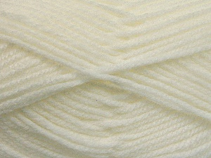 Worsted  Fiber Content 100% Acrylic, White, Brand ICE, Yarn Thickness 4 Medium  Worsted, Afghan, Aran, fnt2-53827