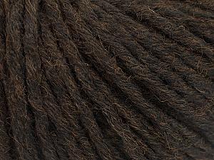 Fiber Content 55% Acrylic, 45% Wool, Brand ICE, Dark Brown, Yarn Thickness 5 Bulky  Chunky, Craft, Rug, fnt2-54376