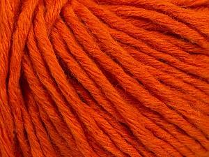 Fiber Content 55% Acrylic, 45% Wool, Orange, Brand ICE, Yarn Thickness 5 Bulky  Chunky, Craft, Rug, fnt2-54377