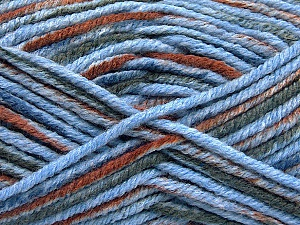 Fiber Content 80% Acrylic, 20% Polyamide, Brand ICE, Grey, Brown, Blue, Yarn Thickness 5 Bulky  Chunky, Craft, Rug, fnt2-54419