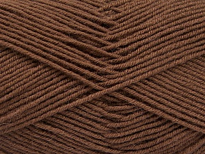 Fiber Content 70% Acrylic, 30% Wool, Brand ICE, Brown, Yarn Thickness 4 Medium  Worsted, Afghan, Aran, fnt2-54433