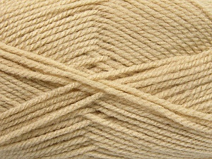 Worsted  Fiber Content 100% Acrylic, Light Beige, Brand ICE, Yarn Thickness 4 Medium  Worsted, Afghan, Aran, fnt2-54495
