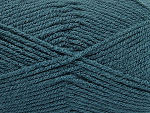 Worsted  Fiber Content 100% Acrylic, Teal, Brand ICE, Yarn Thickness 4 Medium  Worsted, Afghan, Aran, fnt2-54671