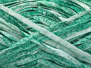 Fiber Content 82% Viscose, 18% Polyester, White, Brand ICE, Emerald Green, Yarn Thickness 5 Bulky  Chunky, Craft, Rug, fnt2-55013