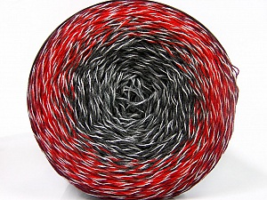 Fiber Content 50% Acrylic, 50% Cotton, White, Red, Brand ICE, Grey Shades, Burgundy, Yarn Thickness 2 Fine  Sport, Baby, fnt2-55069
