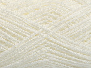 Fiber Content 100% Acrylic, White, Brand ICE, Yarn Thickness 2 Fine  Sport, Baby, fnt2-55123