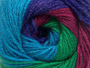 Fiber Content 100% Acrylic, Turquoise, Purple, Orchid, Maroon, Brand ICE, Green, Yarn Thickness 3 Light  DK, Light, Worsted, fnt2-55357