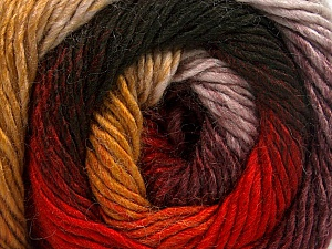 Fiber Content 50% Acrylic, 50% Wool, Red, Maroon, Brand ICE, Gold, Black, Yarn Thickness 2 Fine  Sport, Baby, fnt2-55384