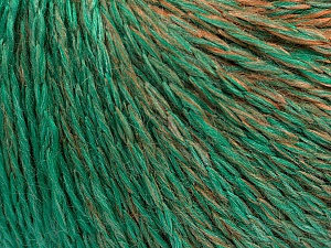 Fiber Content 55% Acrylic, 30% Wool, 15% Polyamide, Brand ICE, Emerald Green, Brown Shades, Yarn Thickness 3 Light  DK, Light, Worsted, fnt2-55429