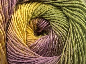 Fiber Content 50% Acrylic, 50% Wool, Yellow, Lilac, Khaki, Brand ICE, Yarn Thickness 2 Fine  Sport, Baby, fnt2-55461