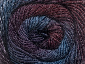 Fiber Content 50% Acrylic, 50% Wool, Purple, Maroon, Brand ICE, Blue Shades, Yarn Thickness 2 Fine  Sport, Baby, fnt2-55518