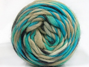 Fiber Content 100% Wool, Turquoise, Brand ICE, Beige, Anthracite, Yarn Thickness 6 SuperBulky  Bulky, Roving, fnt2-55557