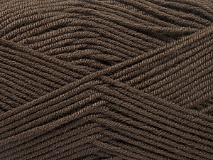Fiber Content 70% Acrylic, 30% Wool, Brand ICE, Dark Brown, Yarn Thickness 4 Medium  Worsted, Afghan, Aran, fnt2-55752