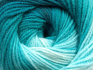 Fiber Content 100% Acrylic, Turquoise Shades, Brand ICE, Yarn Thickness 3 Light  DK, Light, Worsted, fnt2-55950