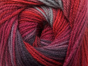 Fiber Content 100% Acrylic, Red, Maroon, Brand ICE, Grey, Burgundy, Yarn Thickness 3 Light  DK, Light, Worsted, fnt2-55953