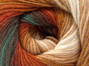 Fiber Content 100% Acrylic, White, Brand ICE, Green, Brown Shades, Yarn Thickness 3 Light  DK, Light, Worsted, fnt2-56086