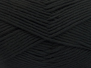 Fiber Content 50% SuperFine Acrylic, 50% SuperFine Nylon, Brand ICE, Black, Yarn Thickness 4 Medium  Worsted, Afghan, Aran, fnt2-56279