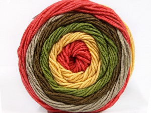 Fiber Content 100% Acrylic, Yellow, Salmon, Brand ICE, Grey, Green, Brown, Yarn Thickness 4 Medium  Worsted, Afghan, Aran, fnt2-56545