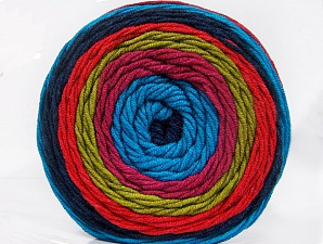 Fiber Content 100% Acrylic, Turquoise, Salmon, Orchid, Olive Green, Navy, Brand ICE, Yarn Thickness 4 Medium  Worsted, Afghan, Aran, fnt2-56554