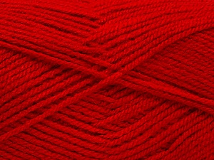 Fiber Content 100% Acrylic, Red, Brand ICE, Yarn Thickness 3 Light  DK, Light, Worsted, fnt2-56573