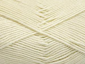 Fiber Content 50% Acrylic, 50% Bamboo, Brand ICE, Ecru, Yarn Thickness 2 Fine  Sport, Baby, fnt2-56574