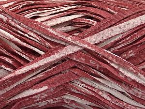 Fiber Content 100% Cotton, White, Light Burgundy, Brand ICE, Yarn Thickness 5 Bulky  Chunky, Craft, Rug, fnt2-56792