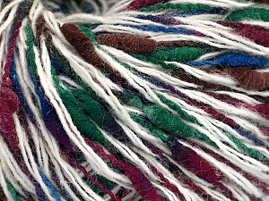 Fiber Content 50% Merino Wool, 35% Polyamide, 15% Acrylic, White, Brand ICE, Green, Burgundy, Blue, fnt2-56993