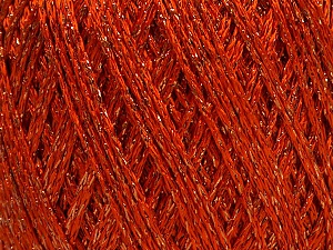 Fiber Content 85% Viscose, 15% Metallic Lurex, Orange, Brand ICE, Copper, Yarn Thickness 3 Light  DK, Light, Worsted, fnt2-57041