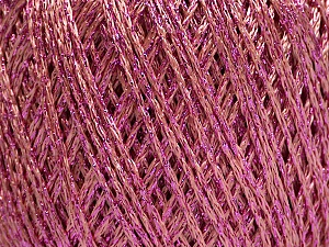 Fiber Content 85% Viscose, 15% Metallic Lurex, Pink, Brand ICE, Yarn Thickness 3 Light  DK, Light, Worsted, fnt2-57046