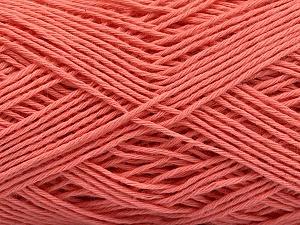 Fiber Content 100% Cotton, Salmon, Brand ICE, Yarn Thickness 2 Fine  Sport, Baby, fnt2-57322