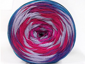 Fiber Content 50% Acrylic, 50% Cotton, Turquoise, Purple, Pink, Lilac, Brand ICE, Fuchsia, Yarn Thickness 2 Fine  Sport, Baby, fnt2-57334