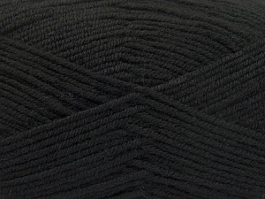 Fiber Content 80% Acrylic, 20% Polyamide, Brand ICE, Black, Yarn Thickness 3 Light  DK, Light, Worsted, fnt2-57371