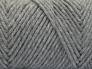Items made with this yarn are machine washable & dryable. Fiber Content 100% Acrylic, Brand ICE, Grey, Yarn Thickness 4 Medium  Worsted, Afghan, Aran, fnt2-57403