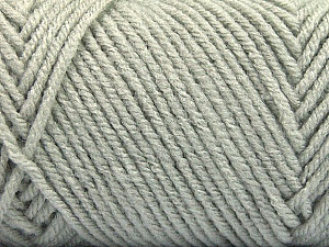 Items made with this yarn are machine washable & dryable. Fiber Content 100% Acrylic, Light Grey, Brand ICE, Yarn Thickness 4 Medium  Worsted, Afghan, Aran, fnt2-57404
