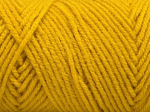 Items made with this yarn are machine washable & dryable. Fiber Content 100% Acrylic, Brand ICE, Gold, Yarn Thickness 4 Medium  Worsted, Afghan, Aran, fnt2-57418