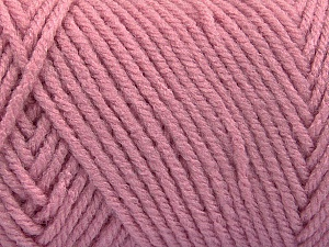 Items made with this yarn are machine washable & dryable. Fiber Content 100% Acrylic, Rose Pink, Brand ICE, Yarn Thickness 4 Medium  Worsted, Afghan, Aran, fnt2-57433