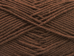 Fiber Content 70% Acrylic, 30% Wool, Brand ICE, Dark Brown, Yarn Thickness 4 Medium  Worsted, Afghan, Aran, fnt2-57579
