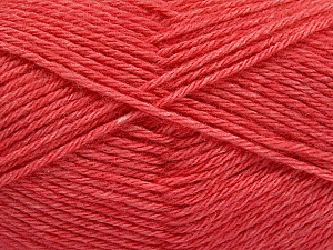 Fiber Content 65% Merino Wool, 35% Silk, Salmon, Brand ICE, Yarn Thickness 3 Light  DK, Light, Worsted, fnt2-57676