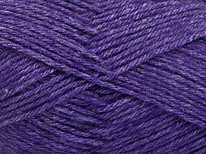 Fiber Content 65% Merino Wool, 35% Silk, Purple, Brand ICE, Yarn Thickness 3 Light  DK, Light, Worsted, fnt2-57679