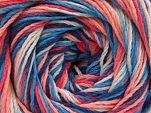 Fiber Content 100% Acrylic, White, Salmon Shades, Brand ICE, Blue Shades, Yarn Thickness 3 Light  DK, Light, Worsted, fnt2-57752