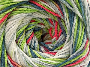 Fiber Content 100% Acrylic, White, Neon Pink, Neon Green, Jeans Blue, Brand ICE, Grey, Yarn Thickness 3 Light  DK, Light, Worsted, fnt2-57755