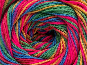 Fiber Content 100% Acrylic, Neon Pink, Brand ICE, Green, Gold, Blue, Yarn Thickness 3 Light  DK, Light, Worsted, fnt2-57759
