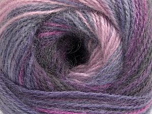 Fiber Content 75% Acrylic, 25% Angora, Purple Shades, Pink, Lilac, Brand ICE, Yarn Thickness 2 Fine  Sport, Baby, fnt2-57796