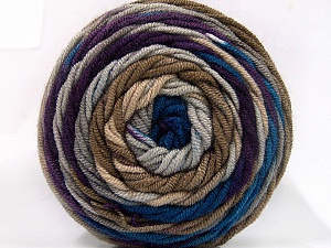 Fiber Content 100% Acrylic, Purple, Brand ICE, Camel, Blue, Yarn Thickness 4 Medium  Worsted, Afghan, Aran, fnt2-58028