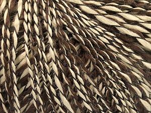 Fiber Content 90% Acrylic, 10% Polyamide, Brand ICE, Dark Brown, Camel, Yarn Thickness 3 Light  DK, Light, Worsted, fnt2-58066